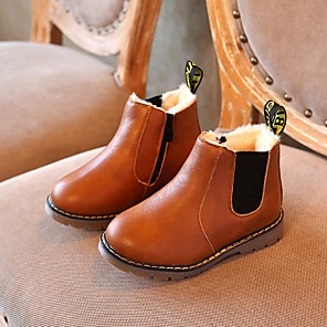 cheap Kids' Boots-Boys' Comfort PU Loafers & Slip-Ons Little Kids(4-7ys) Black / Brown / Gray Summer