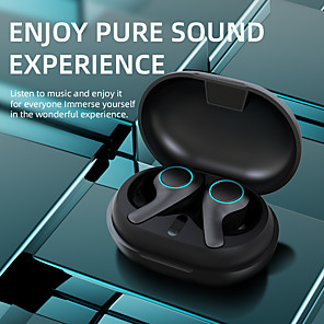 cheap TWS True Wireless Headphones-LITBest PT05 TWS Earbuds Wireless Headphones Bluetooth V5.0 Earphones Touch Control 9D HiFi Stereo Sports Headset with Type-C Charging Port