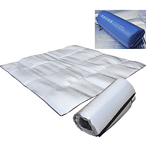 cheap Sleeping Bags & Camp Bedding-Picnic Blanket Outdoor Camping Rain Waterproof Anti-Slip Wearable Alumium Alloy 200*150 cm for 2 person Climbing Camping / Hiking / Caving Traveling Spring Summer Silver