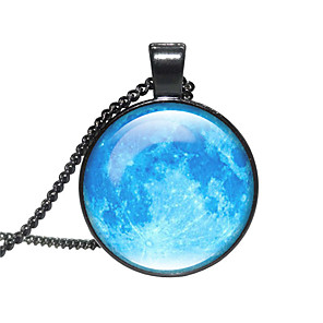 cheap Necklaces-Women's Pendant Necklace Handmade Ball Planet Universe Starry Sky Galaxy Artistic Vintage Glass Alloy Black 50 cm Necklace Jewelry For Gift Festival