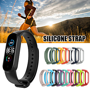 cheap Smartwatch Bands-Newest for Xiaomi mi Band 5 Strap Silicone Soft TPU Wristband Replacement Colorful Strap for Xiaomi mi Band 5 Bracelets