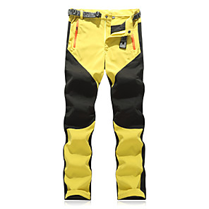 cheap Hiking Trousers & Shorts-Men's Hiking Pants Patchwork Summer Outdoor Regular Fit Waterproof Breathable Quick Dry Ultra Light (UL) Pants / Trousers Bottoms Black Yellow Red Grey Orange Camping / Hiking Fishing Climbing S M L
