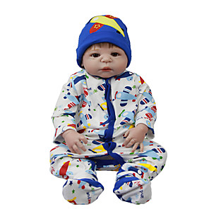 cheap Reborn Doll-Reborn Baby Dolls Clothes Reborn Doll Accesories Cotton Fabric for 22-24 Inch Reborn Doll Not Include Reborn Doll Airplane Soft Pure Handmade Boys' 3 pcs