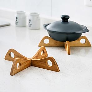 cheap Kitchen Utensils & Gadgets-Anti-scalding Pad Insulation Bamboo Creative Dining Table Mat Kitchen Casserole Rack Bowl Pot