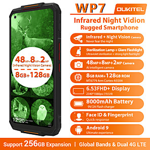 "cheap Cell Phones-OUKITEL wp7 Super 6.53 inch "" 4G Smartphone ( 8GB + 128GB 12 mp MediaTek Helio P90 8000 mAh mAh )"