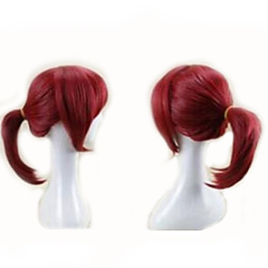cheap Costume Wigs-Synthetic Wig Cosplay Wig Kyoko Sakura Puella Magi Madoka Magica Straight Cosplay Free Part Wig Short Red Burgundy#530 Synthetic Hair 14 inch Women's Cosplay Red