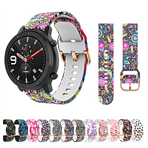 cheap Smartwatch Bands-Printed Silicone Strap for Amazfit GTR 42mm / Amazfit GTS Amazfit Bip Smart Watch Bracelet Bands