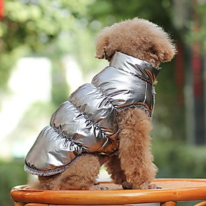 cheap Dog Clothes-Dog Coat Cosplay Outdoor Winter Dog Clothes Golden Silver / Gray Black Costume Cotton XS S M L