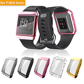 cheap Smartwatch Bands-Screen Protector Case for Fitbit ionic TPU Rugged Bumper Case Cover All-Around Protective Plated Bumper Shell Accessories Scratch-Proof Compatible