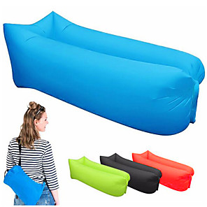 cheap Sleeping Bags & Camp Bedding-Air Bed Outdoor Camping Lightweight Wearable Reduces Chafing Seamless 100% Polyester for 1 person Beach Traveling Picnic Spring Summer Black Yellow Red