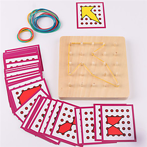 cheap Maze & Sequential Puzzles-Montessori Teaching Tool Building Blocks Jigsaw Puzzle Pegged Puzzles Educational Toy Square Education Kid's Toy Gift