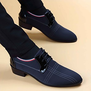 cheap Men's Oxfords-Men's Summer / Fall Business Daily Oxfords Faux Leather Black / Blue