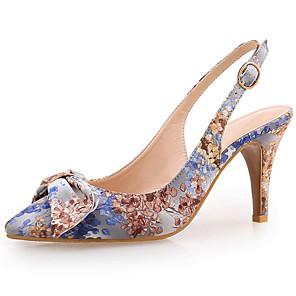 cheap Women's Heels-Women's Sandals Pumps Pointed Toe Office & Career Home Satin Blue