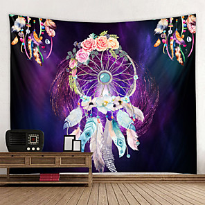 cheap Wall Tapestries-Mandala Bohemian Wall Tapestry Art Decor Blanket Curtain Hanging Home Bedroom Living Room Dorm Decoration Boho Hippie Indian Dream Catcher Psychedelic