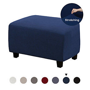 cheap Mosquito Nets-Ottoman Slipcovers Rectangle Gray Footrest Sofa Slipcovers Footstool Protector Covers Stretch Fabric Storage Ottoman Covers, High Spandex Slipcover Machine Washable, Ottoman L Size and XL Size