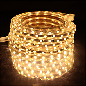 cheap LED Strip Lights-10M SMD 5050 LED Strip light Waterproof 220V 5050 LED Strip Lights Diode Tape Holiday Decoration Lamp LED String Ribbon 60LEDs/M With EU Plug