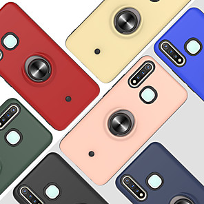 cheap vivoCase-Case For VIVO V15PRO S1PRO Y17 Y3 Y53 Z5X Z1PRO Y7S Z5 V17NEO Y771 Y19 Y5S U3 V17 Y9S Shockproof Ring Holder Back Cover Solid Colored TPU PC Metal