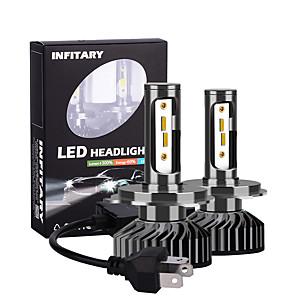 cheap Car Fog Lights-2pcs Ingitary Canbus Led Car Headlight Bulbs 16000Lm ZES Chips 6500K 4500K 3000K H4 H13 9004 9007 Auto Fog Light