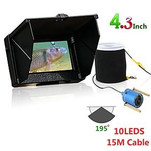 cheap Security Sensors-15M 1200TVL Fish Finder Underwater Fishing Camera 4.3 inch Monitor 10PCS LED Night Vision 195 Degrees Camera For Fishing