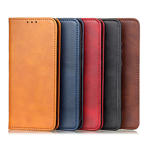 cheap Other Phone Case-Case For Motorola G7 G7Plus G7PLAY G7 Power E6 E6PLUS E6S G8PLUS E6PLAY G8POWER GSTYLUS E7 E GPower G8POWER LITE E6S Card Holder Flip Magnetic Full Body Cases Solid Colored PU Leather TPU Vintage