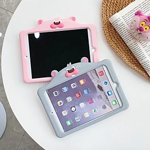 ราคาถูก เคส iPad-Case สำหรับ apple ipad 10.2 2019 ipad air ipad air 2 ipad pro 12.9 ipad pro 11 ipad pro 10.5 ipad pro 9.7 ipad 2 3 4 พร้อมขาตั้งแบบปกหลังสัตว์การ์ตูนซิลิกาเจล