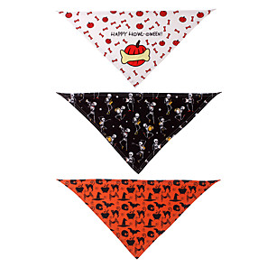 cheap Dog Clothes-Dog Cat Bandanas & Hats Dog Bandana Dog Bibs Scarf Cartoon Party Cute Party Halloween Dog Clothes Adjustable Costume Polyster L