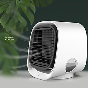 cheap Humidifiers-Mini Portable Air Conditioner Multi-function Humidifier Purifier USB Desktop Air Cooler Fan with Water Tank Home 5V