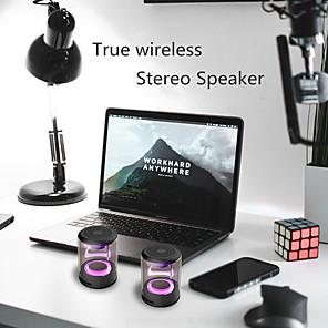 cheap Bookshelf Speakers-Transparent magnetic wireless bluetooth speaker heavy bass colorful light cool color speaker D08S