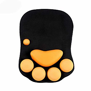 cheap Wall Stickers-mouse pad with wrist support cat paw soft silicone wrist rests wrist cushion computer mouse pad mat desk decor & #40;10.7×7.8, black& #41;