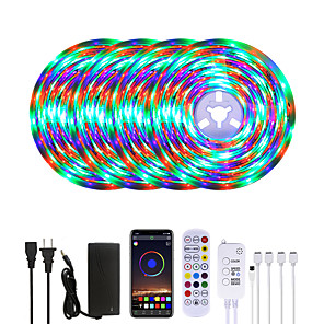 cheap Indoor Wall Lights-20M LED Strip Lights Waterproof RGB LED Light Music Sync 1200LEDs LED Strip 2835 SMD Color Changing LED Strip Light Bluetooth Controller and 24 Keys Remote LED Lights for Bedroom Home Party