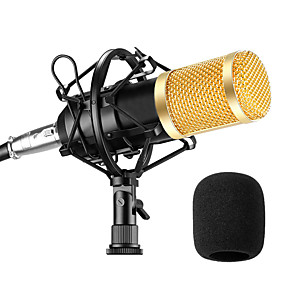 cheap Hifi player-BM800 Microphone Condenser Sound Recording Microphone With Shock Mount For Radio Braodcasting Singing Recording KTV Karaoke Mic