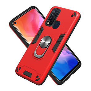 cheap vivoCase-Case For VIVO V15Pro Y17 Y3 Z5X Z1Pro X21 Y53 V17 Y9S S1Pro Y19 Y5S U3 S5 Shockproof Ring Holder Back Cover Solid Colored TPU PC Metal