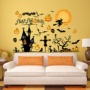 cheap Halloween Toys-Halloween Party Toys Window Sticker Wall Stickers 2 pcs Spiders Bat Mischief PVC Kid's Adults Trick or Treat Halloween Party Favors Supplies