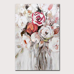cheap Floral/Botanical Paintings-Mintura Large Size Hand Painted Modern Abstract Flowers Oil Painting on Canvas Pop Art Wall Pictures For Home Decoration No Framed