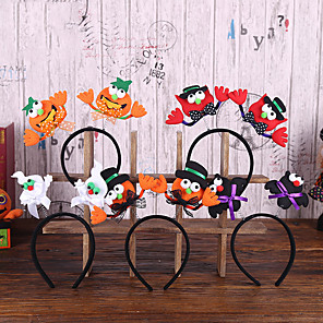 cheap Halloween Toys-Halloween Party Toys Halloween Headband 5 pcs Cat Pumpkin Witch Vampire Luminous Masquerade Random Style with Light Fabrics Kid's Adults Trick or Treat Halloween Party Favors Supplies