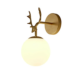 cheap Smartwatches-Eye Protection / Creative Traditional / Classic / Nordic Style Wall Lamps & Sconces Living Room / Dining Room Metal Wall Light 110-120V / 220-240V 12 W