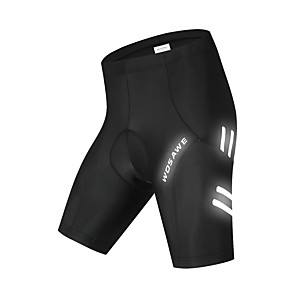 cheap Cycling Jersey & Shorts / Pants Sets-WOSAWE Men's Cycling Padded Shorts Cycling Shorts Silicone Bike Padded Shorts / Chamois MTB Shorts Sports Black Clothing Apparel Race Fit Bike Wear / Micro-elastic / Athletic