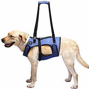 cheap Dog Clothes-dog lift harness, support & recovery sling, pet rehabilitation lifts vest adjustable breathable straps for old, disabled, joint injuries, arthritis, paralysis dogs walk