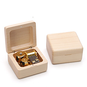 cheap Music Boxes-Wooden Music Box Antique Music Box Classic Theme Vintage Creative Picture Frame Novelty Unique Wooden Boys' Girls' Kid's Adults' Graduation Gifts Toy Gift