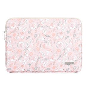 cheap Sleeves,Cases & Covers-11.6 Inch Laptop / 12 Inch Laptop / 13.3 Inch / 14 Inch / 15.6 Inch Laptop Sleeve PU Leather Pink Floral Print / Printing for Women Waterpoof Shock Proof