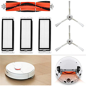 cheap Testers & Detectors-for Xiaomi Mi Robot Vacuum Cleaner Replacement Parts Accessories Set 1 Main Brush 2 Side Brushes 3 Washable Filters