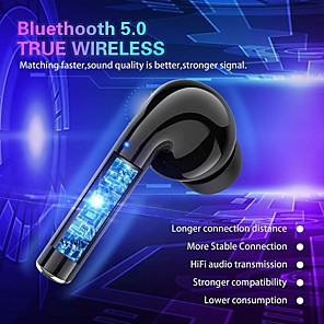 cheap TWS True Wireless Headphones-LITBest M16 TWS True Wireless Earbuds Wireless Bluetooth 5.0 Stereo with Microphone HIFI with Charging Box Smart Touch Control for Mobile Phone