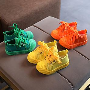 cheap Kids' LED Shoes-Boys' / Girls' Sneakers Comfort Canvas Little Kids(4-7ys) Walking Shoes Yellow / Orange / Green Summer / Fall / Rubber