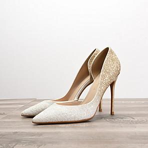 cheap Wedding Shoes-Women's Heels Summer Stiletto Heel Pointed Toe Daily PU White / Black / Purple