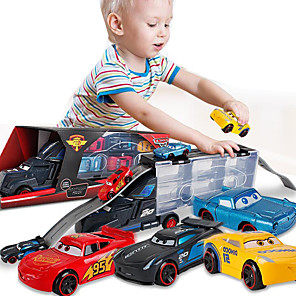 cheap Toy Cars-Vehicle Playset Construction Truck Toys Transport Car Toy Race Car Simulation Alloy Mini Car Vehicles Toys for Party Favor or Kids Birthday Gift Includes 6pcs Random Toy Cars / Kid's