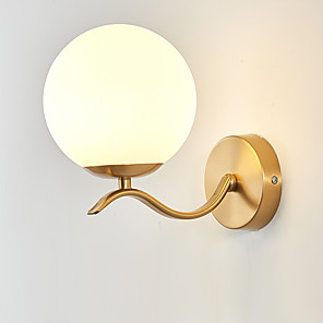 cheap Indoor Wall Lights-Eye Protection  Creative Modern  Nordic Style Wall Lamps & Sconces Bedroom  Shops Cafes Metal Wall Light 110-120V  220-240V 12 W
