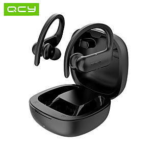 cheap TWS True Wireless Headphones-QCY T6 Wireless Workout Hook Earbuds Sport Fitness Bluetooth 5.0 Headphones Customization App Pop Up Display Smart Touch Control HiFi Sound Earphones IPX5 Waterproof