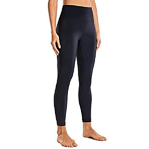 cheap Fitness Gear & Accessories-women's 7/8 high waisted yoga pants workout leggings naked feeling i-25 inches matt purple medium