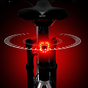 cheap Bike Lights & Reflectors-LED Bike Light Rear Bike Tail Light LED Bicycle Cycling Waterproof Super Bright Quick Release Rechargeable Lithium-ion Battery 120 lm Rechargeable Battery Red Cycling / Bike / Aluminum Alloy