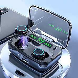 cheap TWS True Wireless Headphones-LITBest M11 TWS True Wireless Bluetooth Earbuds 1500mAh Large Capcity Box Smart Touch Control Power Bank HD Call LED Digital Display Waterproof Headset Can Be Used As A Mobilephone Holder